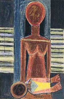 Mother and child, by Wilfredo Lam